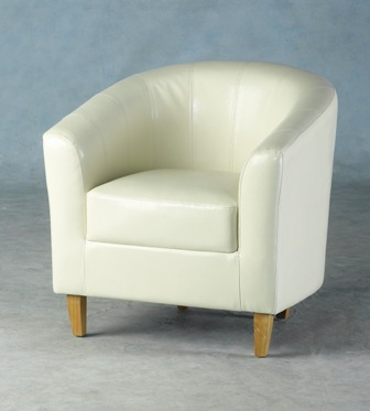 cream leather bucket chair berganza faux leather tub chair 13600 | berganza faux leather tub chair [2] 1531 p